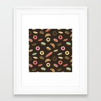 donuts Framed Art Prints featuring Donuts by Julia Badeeva