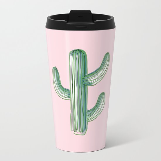 Lonely Cactus Metal Travel Mug