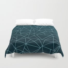 Ombre Ab Teal Duvet Cover