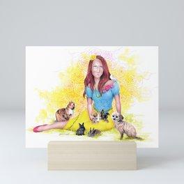 Snow White I | Endometriosis awareness Mini Art Print
