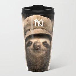 Baseball Sloth Travel Mug
