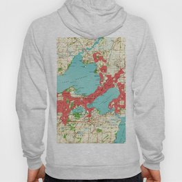 Vintage Map of Madison Wisconsin (1959) Hoody