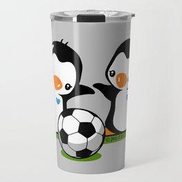 Soccer Penguins Travel Mug