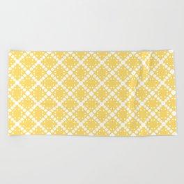 yellow square Beach Towel