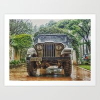 jeep Art Prints featuring Jeep by Carlos Ramalhete