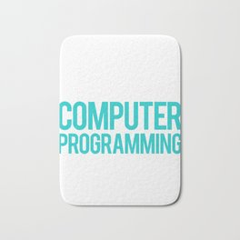 Computer Programming and 3 People Programmers Bath Mat