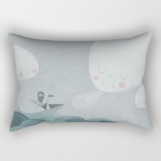 Blowing by the Wind Rectangular Pillow