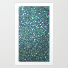 Partytime in Teal Art Print