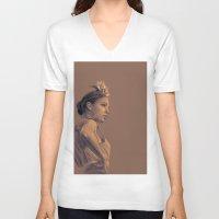 gypsy V-neck T-shirts featuring Gypsy by D Cisneros