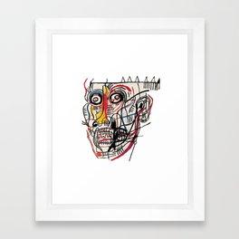 Basquiat Crazy Head Framed Art Print
