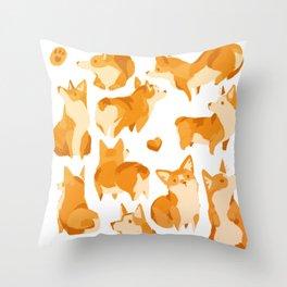 Corgimania Throw Pillow
