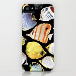Butterflyfish_Black base iPhone Case