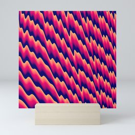 Sawtooth red hot abstract Mini Art Print