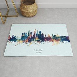 Bogota Colombia Skyline Rug