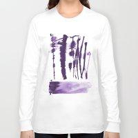 the strokes Long Sleeve T-shirts featuring Decorative strokes by Ioana Avram