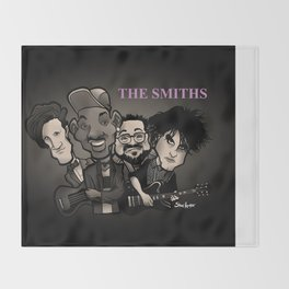 The Smiths (black version) Throw Blanket