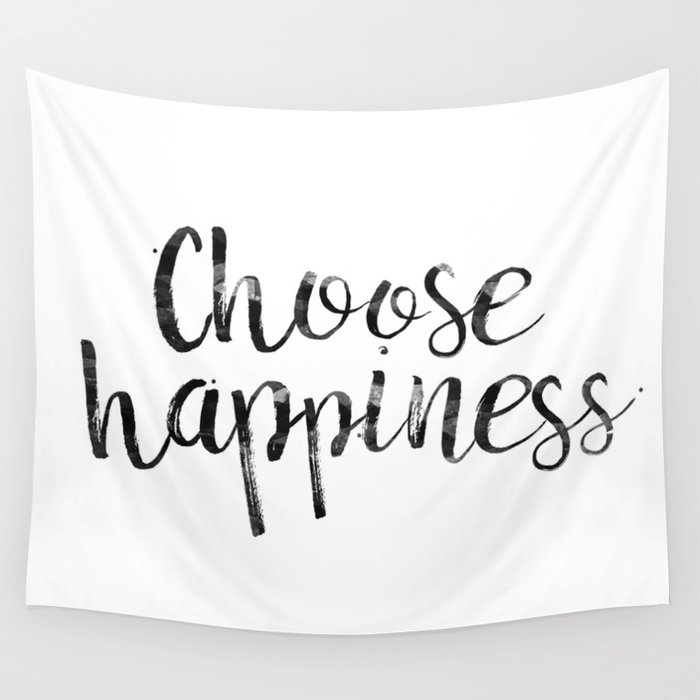 Choose Happiness Wall Tapestry