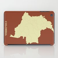 colombia iPad Cases featuring Colombia map by CartoPosters Maps