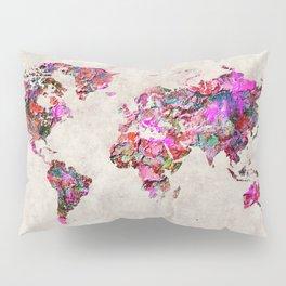 World Map 47 Pillow Sham