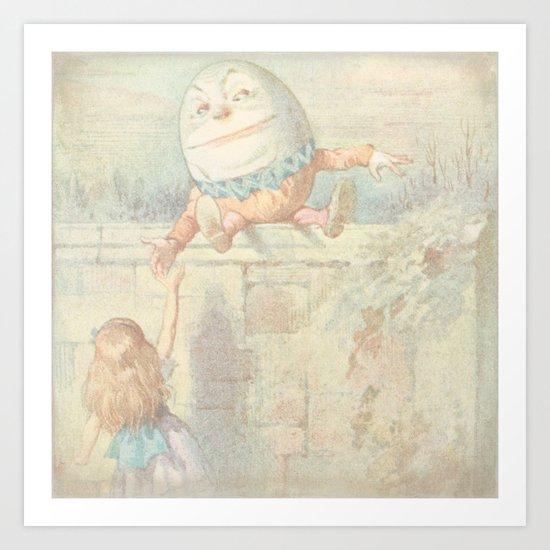 Vintage Humpty Dumpty Art Print
