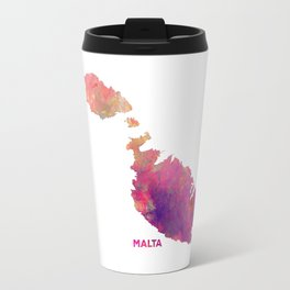 Malta map #malta #map Travel Mug