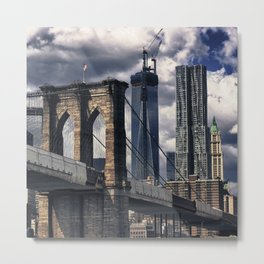 Towards Manhattan Metal Print