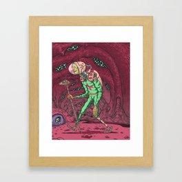 Martian Ghoul Framed Art Print