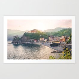 An Evening In Cinque Terre - Monterosso Art Print