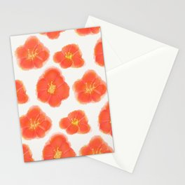 Hibiscus Watercolor Pattern Stationery Cards
