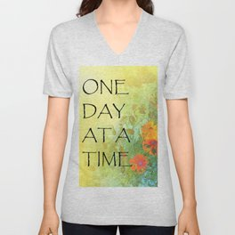 One Day at a Time (ODAT) Lilacs & Poppies Unisex V-Neck