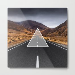Route Triangle Metal Print