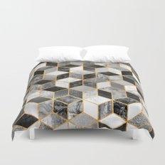 Black & White Cubes Duvet Cover