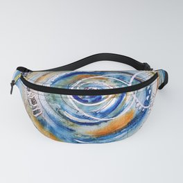 Discovering What We Care About Abstract Watercolor Fanny Pack