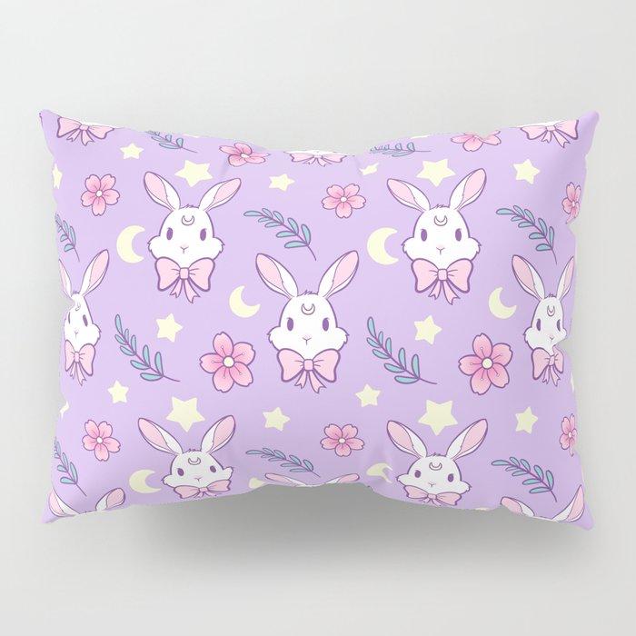 Sakura Bunny // Purple Pillow Sham