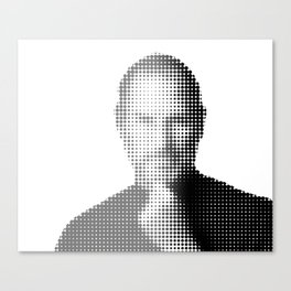 Jobs Abstract Portrait Canvas Print
