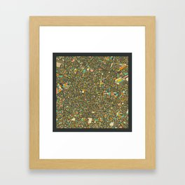 MEXICO CITY Map Framed Art Print