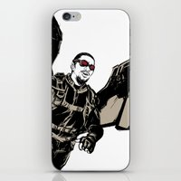 falcon iPhone & iPod Skins featuring Falcon by Irene Flores