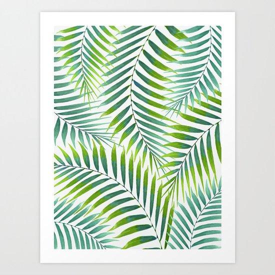 Palm leaves VI Art Print