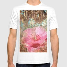 late flowering MEDIUM Mens Fitted Tee White