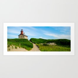 The North Light, Block Island, RI Art Print