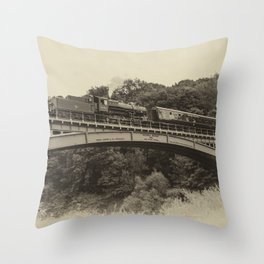 Flying Pig at Victoria Bridge  Throw Pillow