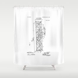 Wright Brothers Patent: Flying Machine Shower Curtain