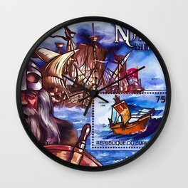Burundi 2012 Ships Medieval Navigators Wall Clock