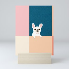 Little_French_Bulldog_Love_Minimalism_001 Mini Art Print