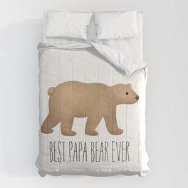 Best Papa Bear Ever Comforters