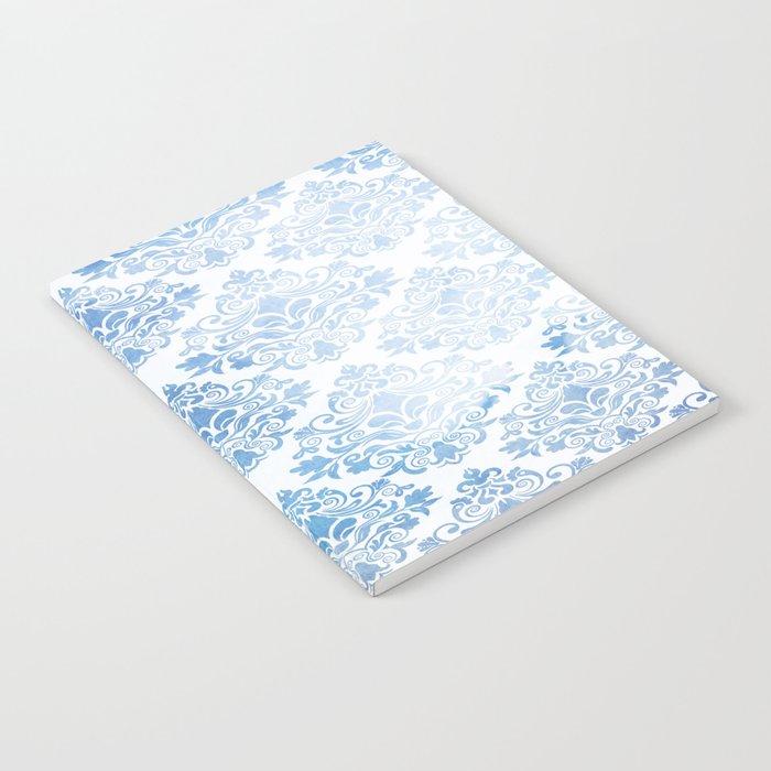 Blue Watercolor Pattern 04 Notebook