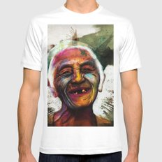 Old White Mens Fitted Tee MEDIUM