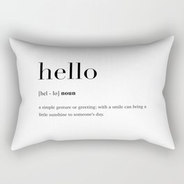 Hello definition Rectangular Pillow