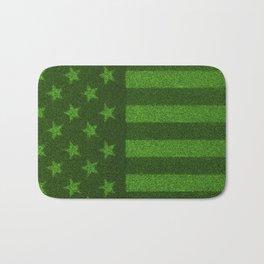 The grass and stripes / 3D render of USA flag grown from grass Bath Mat
