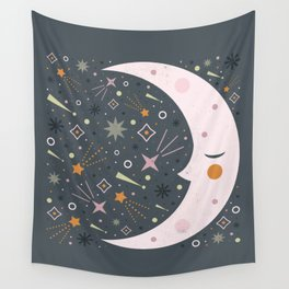 Mr Moon Wall Tapestry
